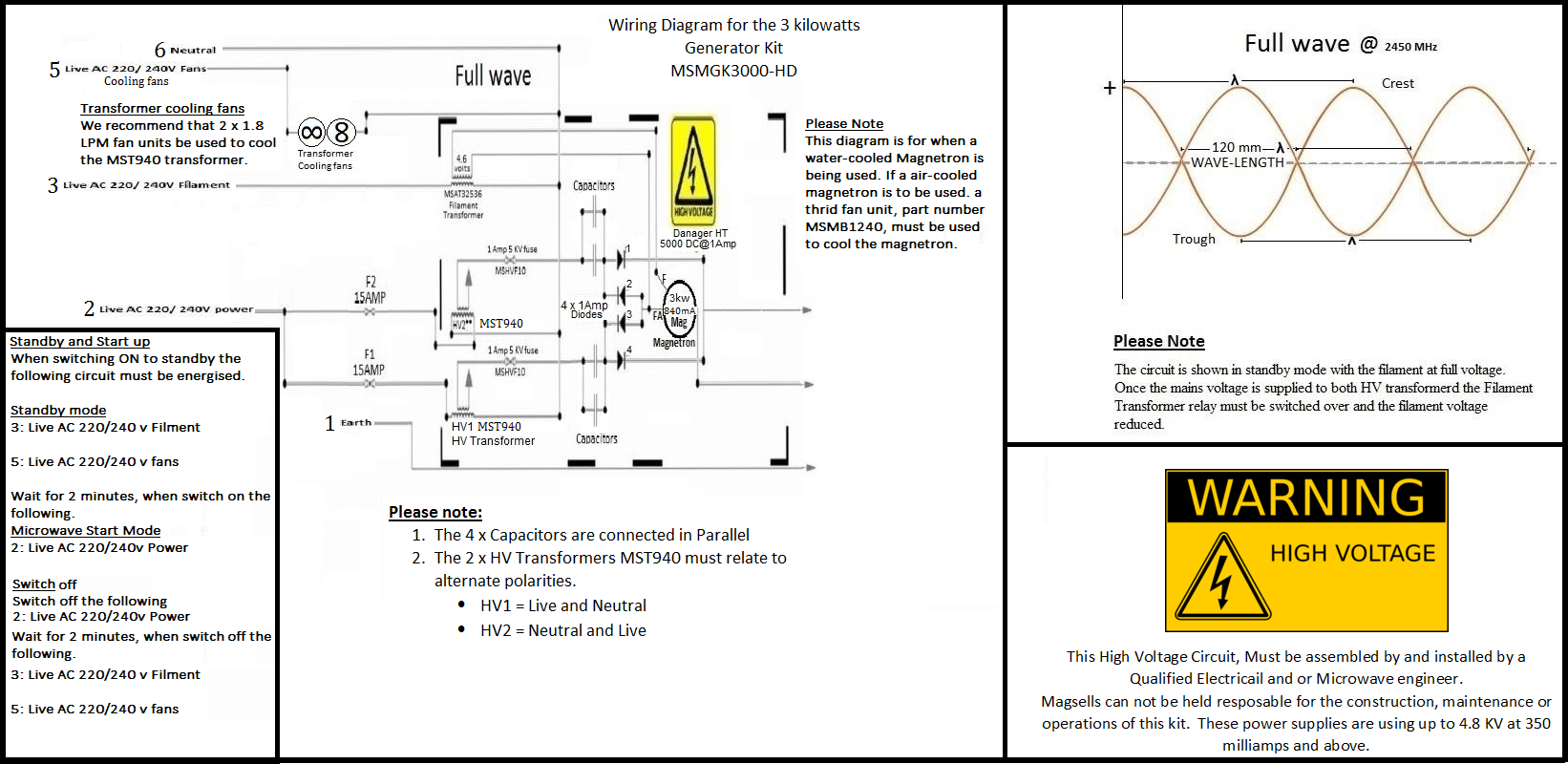 3 Kilowatts Kit Wiring Diagram Magsells Microwave Oven Parts Circuit